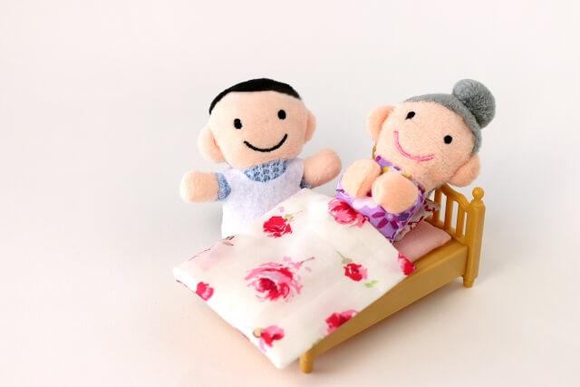 ベッド高齢者と介護職