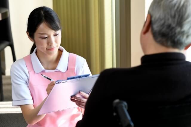 利用者と介護職